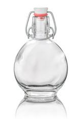 freigestellte runde Bügelflasche