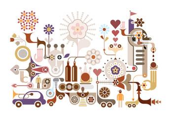 Flower Festival - vector illustration