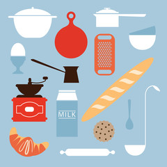Food and kitchen objects