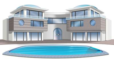 Luxusvilla mit pool grundriss  Bilder und Videos suchen: luxusvilla
