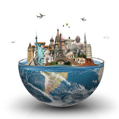 Fotomurales - Travel the world monuments concept