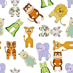 vector background with african animals.