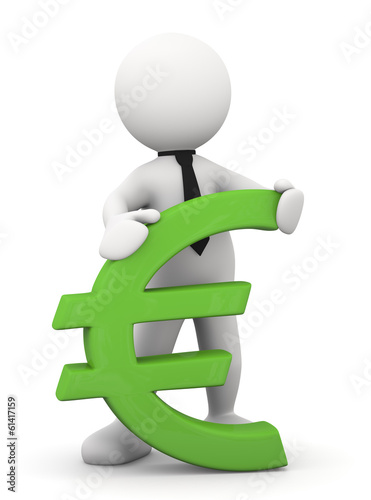 Omino bianco con simbolo euro immagini e fotografie for Scarica clipart