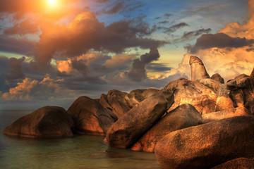 The Rock Hin ta from Thai island of Koh Samui