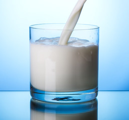 Pouring milk into glass