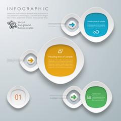 Infographics Vector Background Flow Chart