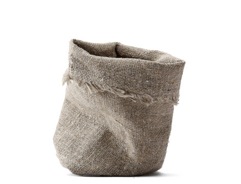 linen bag isolated on a white background.
