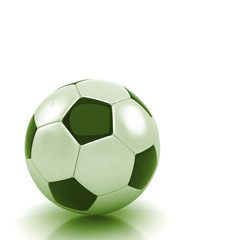 soccer ball isolated white background