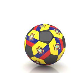 Ecuador soccer ball isolated white background