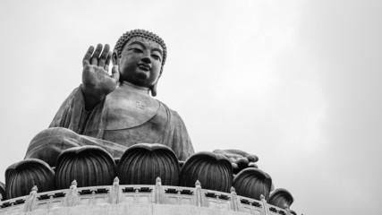 The big Budha at Po Lin Monastery (Tian Tan)