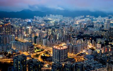 Hongkong Night Landscape , colorful color