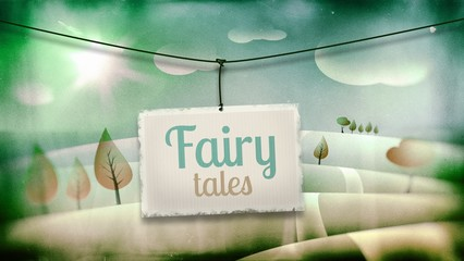 Fairy tales, vintage children illustration
