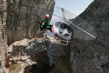 Helikopter im Cayon