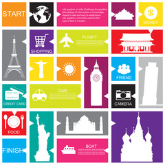 travel template for interface or infographic