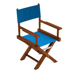 realistic 3d render of director chair