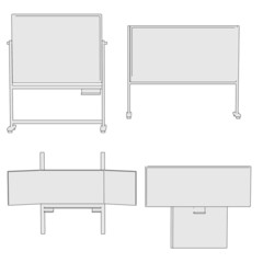 cartoon image of black boards