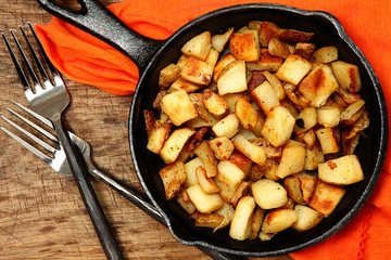 Ranch Potatoes in Cast Iron Skillet