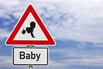 Schild Achtung Baby