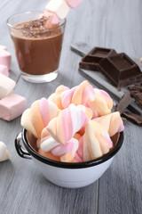 marshmallow e cioccolato