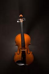 violin with smoke