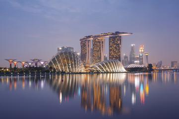 Foto op Canvas Singapore Singapore Skyline