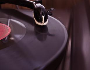 pickup with vinyl records