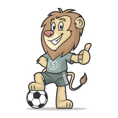 Lion footballer showing thumb up