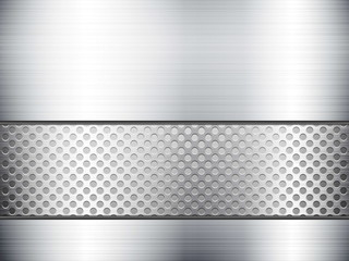 metallic sheet and grid