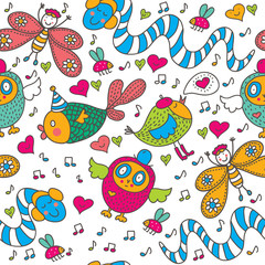 Cheerful children's seamless pattern.