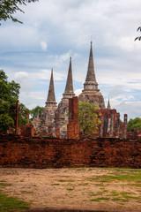 Wat Phra Sri Sanphet Temple in Ayutthaya, Thailand