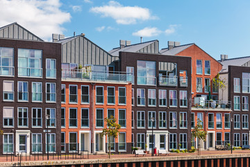 Modern Dutch canal houses