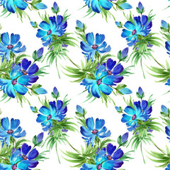 Floral background cornflowers