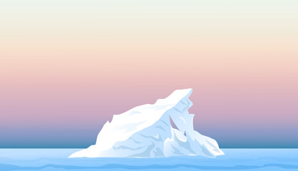 Iceberg at Evening-Vector
