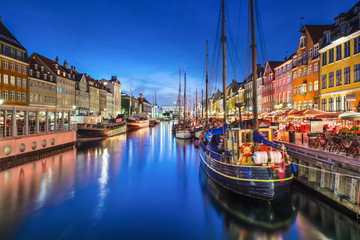Photo sur Plexiglas Scandinavie Copenhagen, Denmark at Nyhavn Canal