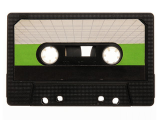 old, black, retro music audio tape