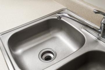 Empty Stainless Steel Kitchen Sink