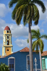 Church and palm tree, Trinidad de Cuba