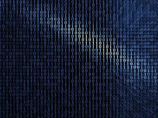 Blue digital metal background