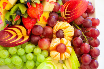 group of colorful fruit