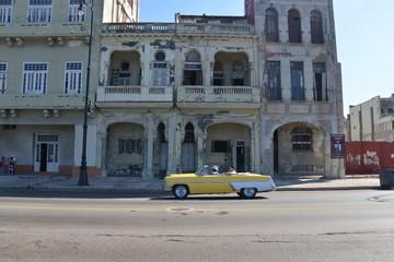 Classic car, Malecon, Cuba