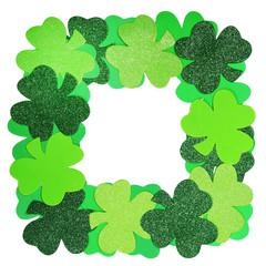 St. Patrick's Day. Shamrock Frame isolated
