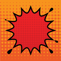 Comic book explosion abstract, vector illustration