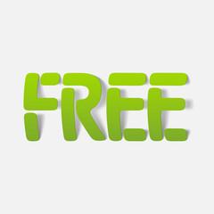 realistic design element: free