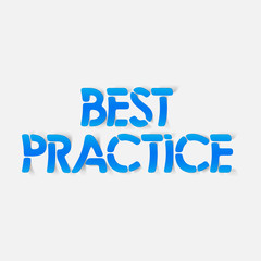 realistic design element: best practice