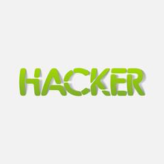 realistic design element: hacker