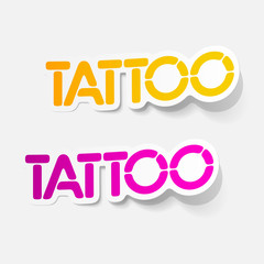 realistic design element: tattoo