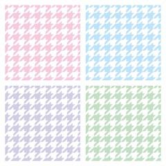 Pastel houndstooth tweed vector background or pattern