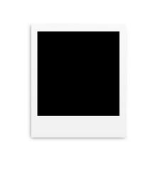 Photo papers polaroid card isolated on white