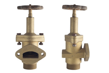 Old control gate valve for connect water pipe line