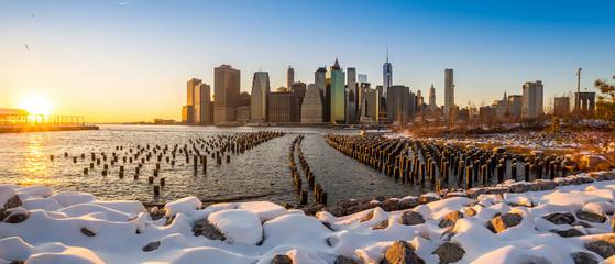 Manhattan Skyline with the One World Trade Center building.